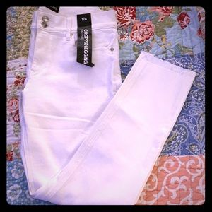 NWT Express Cropped White Jeggings in size 10R